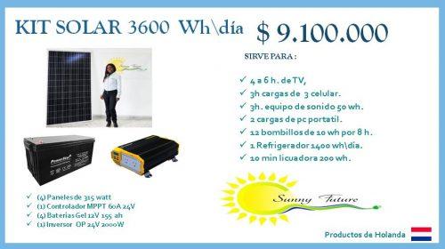 Kit solar 1.230 watt