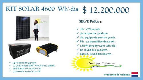 Kit solar 1.575 watt