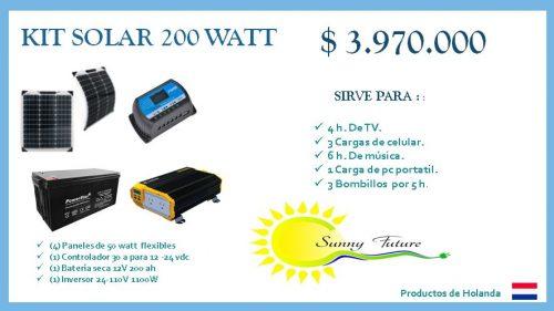 Kit solar 200 watt
