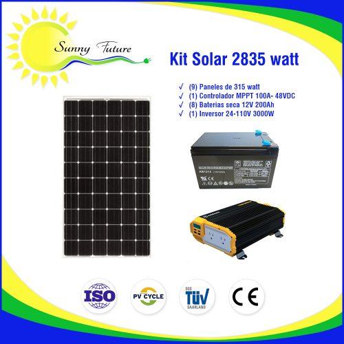 Kit Solar 2835 watt